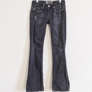 MEK Denim | black boot cut jeans | size 28/34